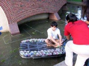 ทำเรือจากขวดพลาสติก